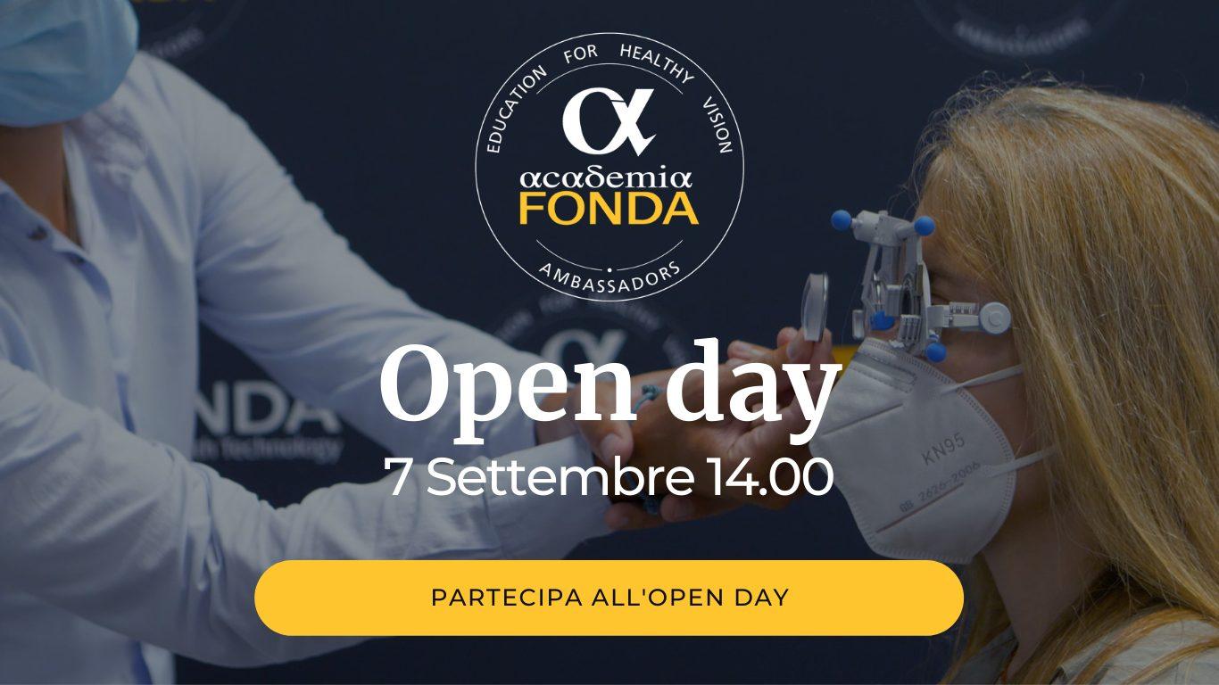 Open day academia FONDA - 7 settembre 14.00